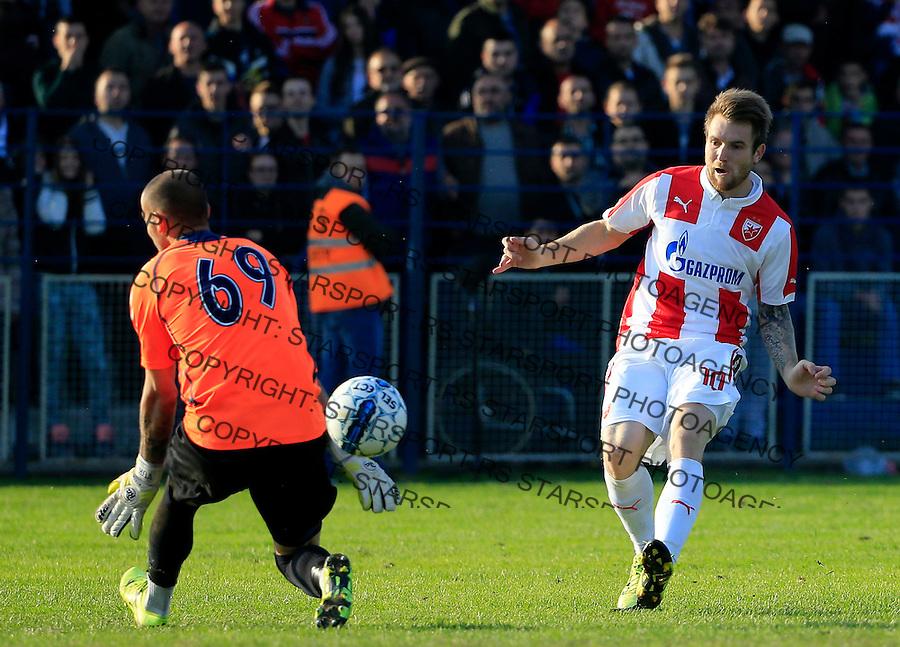 Fudbal Kup Srbije season 2015-2016<br /> Backa v Crvena Zvezda<br /> Aleksandar Katai (R) scores the goal<br /> Backa Palanka, 28.10.2015.<br /> foto: Srdjan Stevanovic/Starsportphoto&copy;