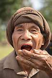 INDONESIA, Flores, an elder man eats Betel Nut in Kampung Tutubhada village in Rendu