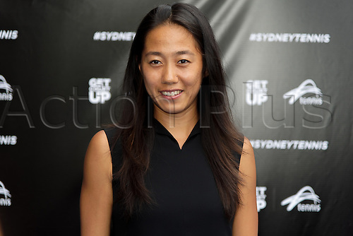 09.01.2017 Sydney, Australia.  China's top ranked player Zhang Shuai arrives on the Blue Carpet ahead of the FAST4 Showdown Australian versus Rest of the World team  played at the International Convention Center in Sydney.