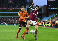 Jack Grealish of Aston Villa wins the ball <br /> <br /> Photographer Leila Coker/CameraSport<br /> <br /> The EFL Sky Bet Championship - Aston Villa v Wolverhampton Wanderers - Saturday 10th March 2018 - Villa Park - Birmingham<br /> <br /> World Copyright &copy; 2018 CameraSport. All rights reserved. 43 Linden Ave. Countesthorpe. Leicester. England. LE8 5PG - Tel: +44 (0) 116 277 4147 - admin@camerasport.com - www.camerasport.com