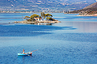 The small island Daskalio across Poros, Greece