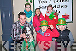 MASCOT: Angle the dog who dressed up for the St Patricks Day Parade in Abbeydorney with Angle the dog were,Aurian Pickett (owner0, Ruby Ryan, Ria Murphy-Quirke,Ethen,Libbi and Laurie Dowling (Abbeydorney).