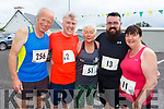 Frank O'Connor, Jerry Treanor, Katie O'Sullivan, James and Jackie Treanor ready for road at the Kilmoyley 5k/10 road race on Sunday morning.