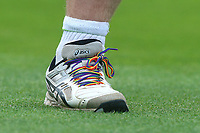 Paul Stirling of Middlesex wears rainbow laces during Essex Eagles vs Middlesex, NatWest T20 Blast Cricket at The Cloudfm County Ground on 11th August 2017