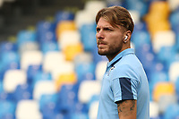 Ciro Immobile of SS Lazio<br />  prior to Serie A football match between SSC  Napoli and SS Lazio at stadio San Paolo in Naples ( Italy ), August 01st, 2020. Play resumes behind closed doors following the outbreak of the coronavirus disease. <br /> Photo Cesare Purini / Insidefoto