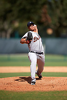 Detroit Tigers pitcher Cristhian Tortosa (48) delivers a pitch during an Instructional League game against the Atlanta Braves on October 10, 2017 at the ESPN Wide World of Sports Complex in Orlando, Florida.  (Mike Janes/Four Seam Images)