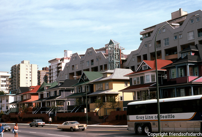 Vancouver: Old houses preserved along Pacifica Ave. from Burrard--effective planning! Photo '86.