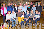 Ronnie Moore, Fossa centre with the former class mates of her late husband Gerry from Dublin who reunited to play music as a tribute to Gerry in the Beaufort bar on Saturday night