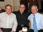 Noel Lynch, Tony Gregory and Des Healy pictured at the Return to Abbey Ballroom with the Flying Carlton at the Glenside hotel. Photo: Colin Bell/pressphotos.ie