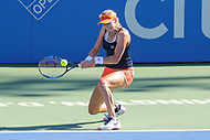 Washington, DC - August 5, 2017:  Ekaterina Makarova (RUS) in action during the Women semifinal match at Rock Creek Park Tennis Center in Washington, DC. (Photo by Elliott Brown/Media Images International)