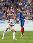 France's Lucas Digne tussles with England's Harry Kane during the Friendly match at Stade De France Stadium, Paris Picture date 13th June 2017. Picture credit should read: David Klein/Sportimage