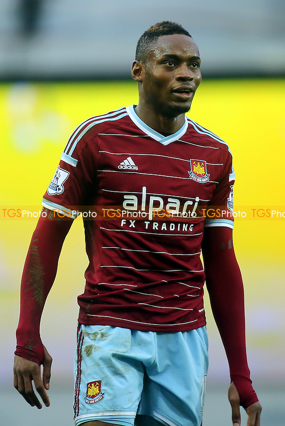 Diafra Sakho scorer of West Ham's opening goal - West Ham United vs West Bromwich Albion - Barclays Premier League Football at the Boleyn Ground, Upton Park, London - 01/01/15 - MANDATORY CREDIT: Paul Dennis/TGSPHOTO - Self billing applies where appropriate - contact@tgsphoto.co.uk - NO UNPAID USE