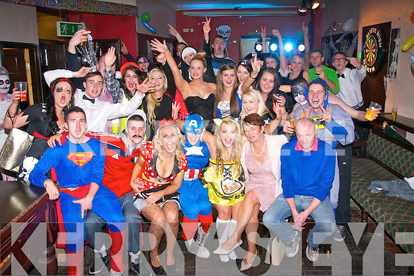 SPOOKY 18TH: Orla Foley, Ballyroe, Tralee (seated 3rd right) had a fab night celebrating her 18th birthday with a Halloween party on Thursday in the Slievemish bar, Tralee, along with many friends and family.