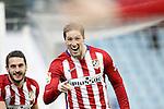 Atletico de Madrid's Fernando Torres (l) and Koke Resurrecccion celebrate goal during La Liga match. February 14,2016. (ALTERPHOTOS/Acero)