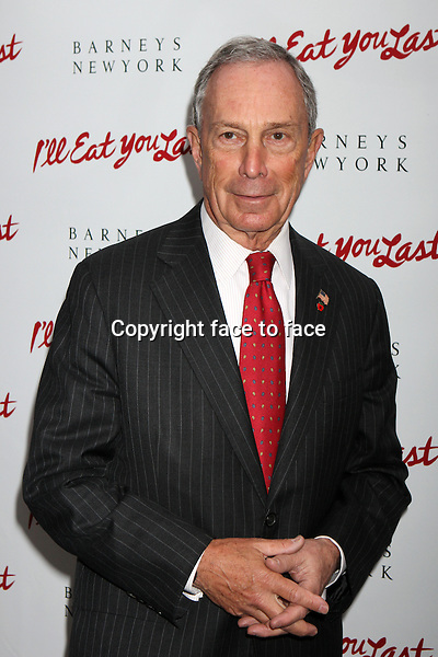 "Mayor Michael Bloomberg attending the opening night performance of ""I'll Eat You Last: A Chat With Sue Mengers"" at The Booth Theatre in New York, 24.04.2013. .Credit: Rolf Mueller/face to face"