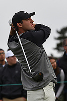 Scottie Scheffler (USA) watches his tee shot on 9  during round 1 of the 2019 US Open, Pebble Beach Golf Links, Monterrey, California, USA. 6/13/2019.<br /> Picture: Golffile | Ken Murray<br /> <br /> All photo usage must carry mandatory copyright credit (© Golffile | Ken Murray)