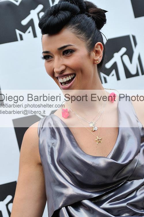 (KIKA) - TORINO, 29/06/2012 -Nina Zilli si esibisce durante la prima serata degli MTV Days in piazza Castello a Torino, il 29 giugno 2012.