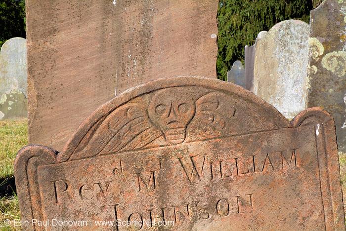 Headstone at Walnut Hill Cemetery in West Newbury, Massachusetts USA.