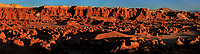920950010 panoramic of hoodoo formations in the high desert of goblin valley state park utah united states