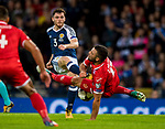 Malta's zach Muscat blocks the shot of Scotland's Andy Robertson during the World Cup Qualifying Group F match at Hampden Park Stadium, Glasgow. Picture date 4th September 2017. Picture credit should read: Craig Watson/Sportimage
