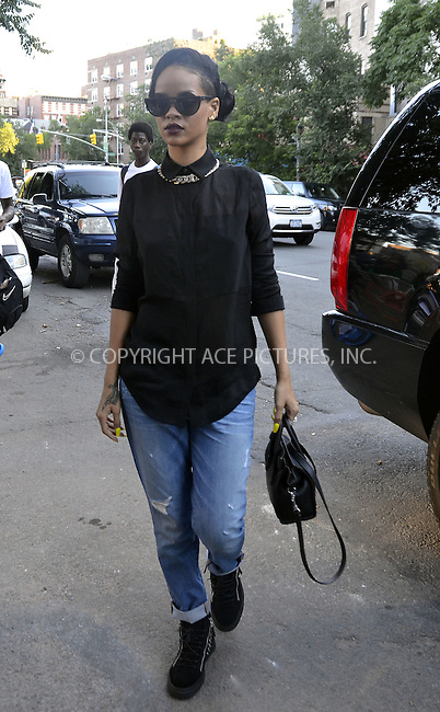 WWW.ACEPIXS.COM . . . . .  ....June 15 2012, New York City....Singer Rihanna goes out in Manhattan on June 15 2012 in New York City....Please byline: CURTIS MEANS - ACE PICTURES.... *** ***..Ace Pictures, Inc:  ..Philip Vaughan (212) 243-8787 or (646) 769 0430..e-mail: info@acepixs.com..web: http://www.acepixs.com