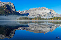 Early morning on Upper Kananaskis Lake, Peter Lougheed Provincial Park, Alberta, Canada