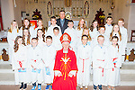 The pupils from Cromane NS with with Bishop Ray Browne and Fr Michael Fleming at their Confirmation in St James church, Killorglin on thursday