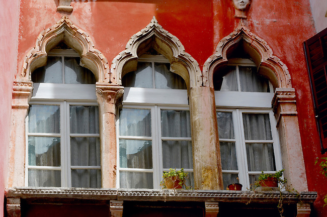 Window of a Venetican house . Piran , Slovenia