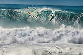 HAWAII, Oahu, North Shore, Eddie Aikau, 2016, surfers competing in the Eddie Aikau 2016 big wave surf competition, Waimea Bay