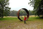 Scultura internazionale al Castello di Aglie. Sculpture exhibition in the park of the Castle of Aglie. Here the work of Nicola Salvatore.