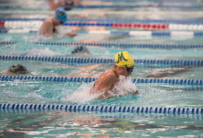 Manogue's Donna Depolo won the girls 4A 100 yard breaststroke race during the State Swimming Meet in Carson City on Saturday, May 20, 2017.