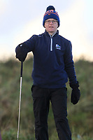 David Kitt (Athenry) on the 18th tee during Round 3 of the Ulster Boys Championship at Portrush Golf Club, Portrush, Co. Antrim on the Valley course on Thursday 1st Nov 2018.<br /> Picture:  Thos Caffrey / www.golffile.ie<br /> <br /> All photo usage must carry mandatory copyright credit (&copy; Golffile | Thos Caffrey)
