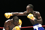 One Last Round, Jeff Fenech v Azuma Nelson Fight Night..Melbourne, Vodafone Arena 24-6-08.Kafi Manu from Ghana (R)misses as Sam Columban ducks beneath a right hook..Photo: Grant Treeby
