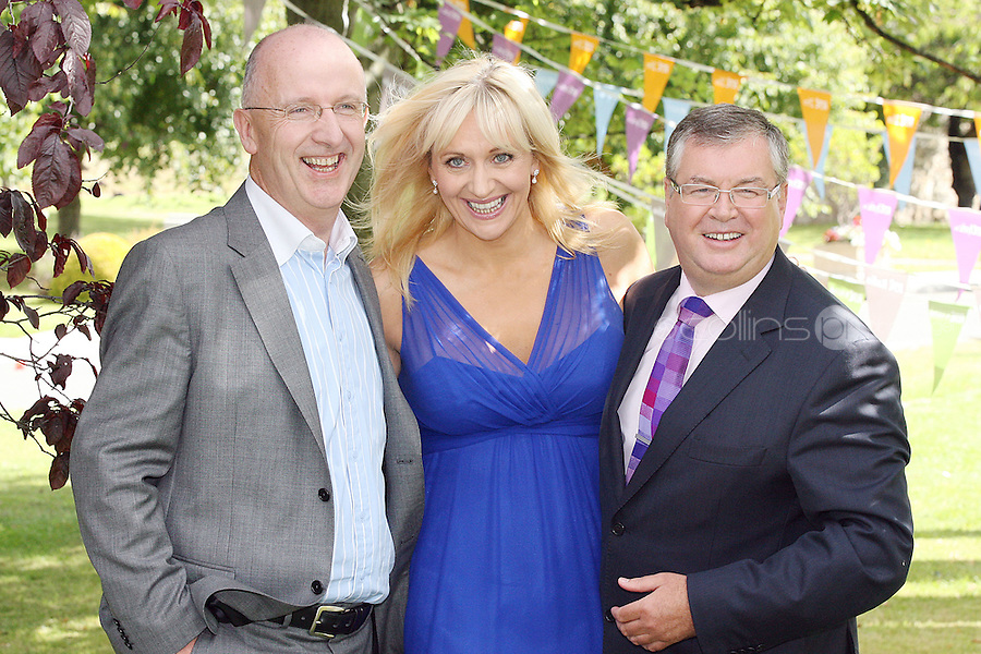 18/8/2010. RTE RADIO NEW SEASON LAUNCH. Radio presenters John Murray, Miriam O' Callaghan and Joe Duffy are pictured at the RTE Radio new Autumn season launch in Dublin. Picture James Horan/Collins Photos