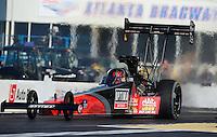 May 4, 2012; Commerce, GA, USA: NHRA top fuel dragster driver David Grubnic during qualifying for the Southern Nationals at Atlanta Dragway. Mandatory Credit: Mark J. Rebilas-
