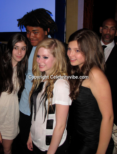 Avril Lavigne with Owen Thiele and Guests..Race to Erase MS Hosted by Nancy Davis – Inside..Hyatt Regency Century Plaza Hotel..Century City, CA, USA..Friday, May 07, 2010..Photo By CelebrityVibe.com.To license this image please call (212) 410 5354; or Email: CelebrityVibe@gmail.com ; .website: www.CelebrityVibe.com.