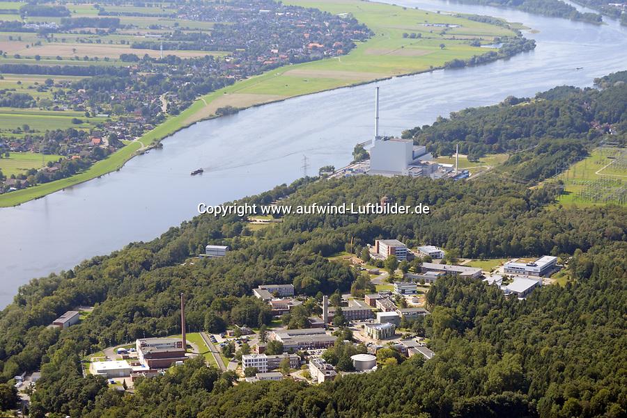 Helmholtz-Zentrum Geesthacht und Atomkraftwerk Krümmel : EUROPA, DEUTSCHLAND, SCHLESWIG-HOLSTEIN, (EUROPE, GERMANY), 24.08.2017: Helmholtz-Zentrum Geesthacht und Atomkraftwerk Krümmel
