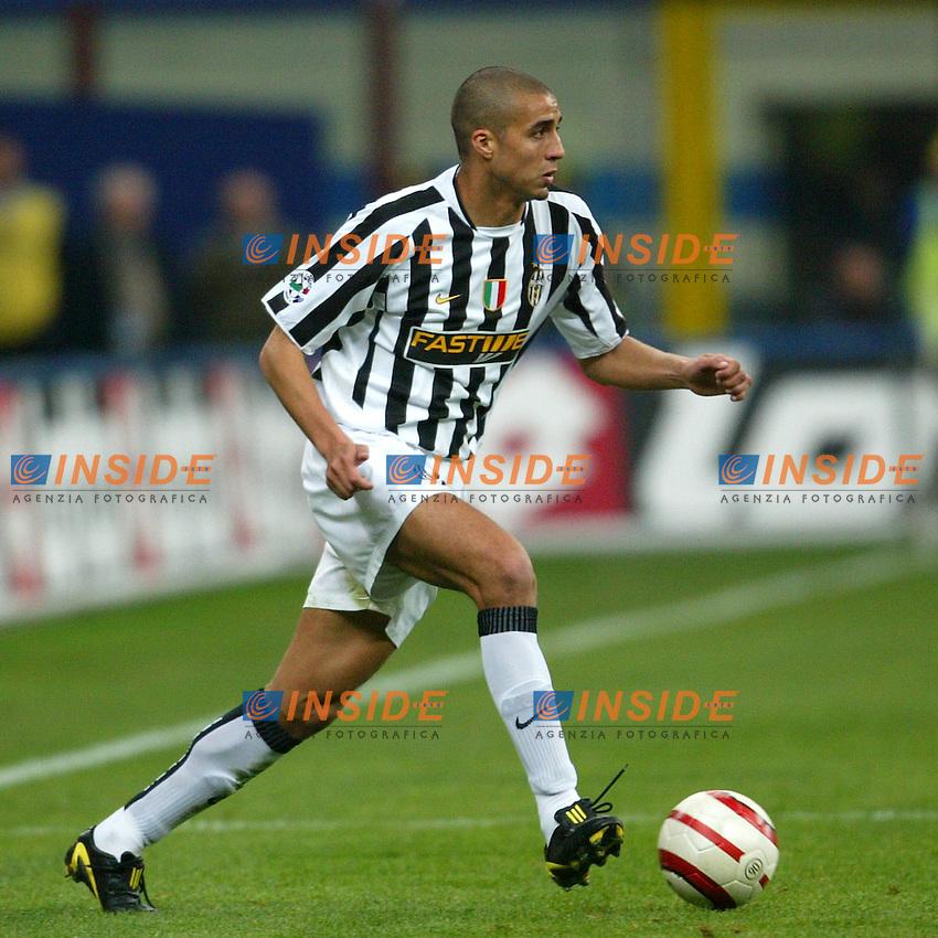 Milano 4/4/2004 Campionato Italiano Serie A 28a Giornata - Matchday 28<br /> Inter Juventus 3-2 <br /> David Trezeguet (Juventus)<br /> <br /> Foto Andrea Staccioli Insidefoto