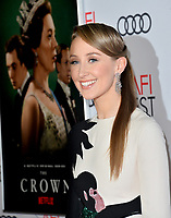"""LOS ANGELES, USA. November 17, 2019: Erin Doherty at the gala screening for """"The Crown"""" as part of the AFI Fest 2019 at the TCL Chinese Theatre.<br /> Picture: Paul Smith/Featureflash"""