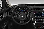 Car pictures of steering wheel view of a 2019 Jaguar XF Premium 4 Door Sedan