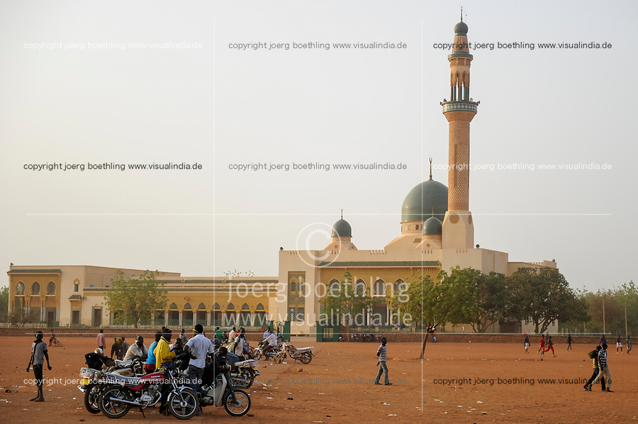 NIGER Niamey, Grand mosque, built 1977-1989, financed by libyan dictator Muammar al-Gaddafi