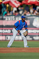 South Bend Cubs second baseman Delvin Zinn (20) during a game against the Kane County Cougars on July 21, 2018 at Northwestern Medicine Field in Geneva, Illinois.  South Bend defeated Kane County 4-2.  (Mike Janes/Four Seam Images)