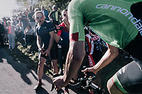 Davide Formolo (ITA/Cannondale-Drapac) enjoying the enthusiastic crowd up the infamous Muro di Sormano (avg 17%/max 25%)<br /> <br /> Il Lombardia 2017<br /> Bergamo to Como (ITA) 247km