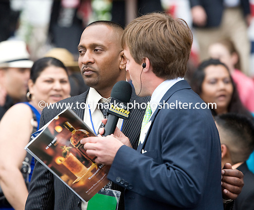 Naipaul Chatterpaul - Sean Clancy after Mission Approved wins Manhattan.