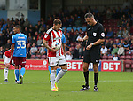 Billy Sharp of Sheffield Utd prepares to take a penalty during the English League One match at Glanford Park Stadium, Scunthorpe. Picture date: September 24th, 2016. Pic Simon Bellis/Sportimage
