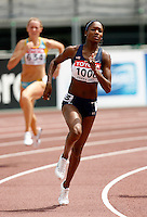 Mary Wineberg  ran 51.25sec. in the 1st. round of the 400m on Sunday, August 26, 2007. Photo by Errol Anderson,The Sporting Image.