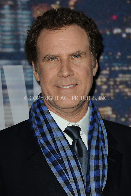 WWW.ACEPIXS.COM<br /> February 15, 2015 New York City<br /> <br /> Will Ferrell walking the red carpet at the SNL 40th Anniversary Special at 30 Rockefeller Plaza on February 15, 2015 in New York City.<br /> <br /> Please byline: Kristin Callahan/AcePictures<br /> <br /> ACEPIXS.COM<br /> <br /> Tel: (646) 769 0430<br /> e-mail: info@acepixs.com<br /> web: http://www.acepixs.com