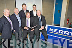 EXCELLENCE: At the launch of the Kerry Group contribution of €1millon to Kerry Gaa Centre of Excellence Project, at ITT North Campus on Monday evening, L-r@: Ger McCarthy (Hurling Offr (KCB), John Joe O'Carroll (treasurer KCB), Patrick O'Sullivan (chairman (Kerry County Board), Tim Murphy (Developing Offr KCB), Frank Hayes (Kerry Group) and Eamon Fitzmaurice (manager Kerry Snr Football Team).