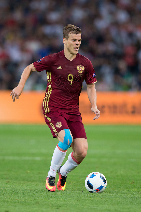 Russia's Aleksandr Kokorin in action<br /> <br /> Photographer Craig Mercer/CameraSport<br /> <br /> International Football - 2016 UEFA European Championship - Group B - England v Russia - Saturday 11th June 2016 - Stade Velodrome, Marseille - France <br /> <br /> World Copyright &copy; 2016 CameraSport. All rights reserved. 43 Linden Ave. Countesthorpe. Leicester. England. LE8 5PG - Tel: +44 (0) 116 277 4147 - admin@camerasport.com - www.camerasport.com