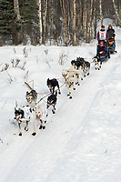 Robert Bundtzen w/Iditarider on Trail 2005 Iditarod Ceremonial Start near Campbell Airstrip Alaska SC